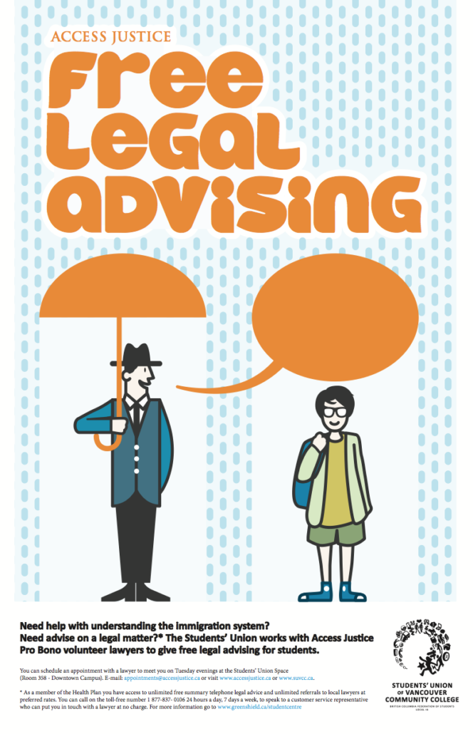 free legal advising students union of vancouver community college